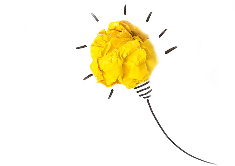 lampada accesa come le idee